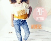 Women's Sunrise Knit Sweater Pattern Knitting Pattern for Women in Color Block Textured Modern Jumper