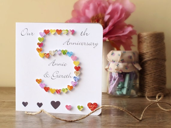 5th Wedding Anniversary Card - Personalised 5th Anniversary Card ...