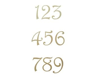 """Single Wooden Numbers in the Harrington Font - 1/2"""""""