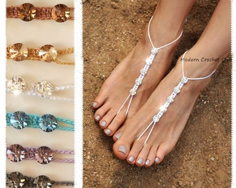 Barefoot Sandals- Foot Jewelry- Barefoot Wedding Sandal- Footless Sandals- Beach Wedding- Bridesmaid gift- Valentines Gift for Girlfriend