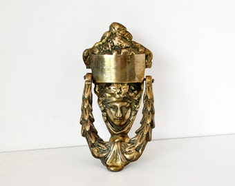 Large Vintage Brass Door Knocker
