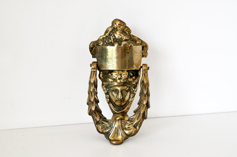 Large vintage brass door knocker - Vintage brass door knocker ...