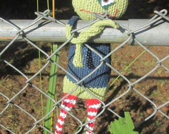 PATTERN ONLY: Beware of Zombies!!  Knitting Pattern, knit monster plushie featured in Stuffed Magazine Autumn 2015, DIY, Instant Download