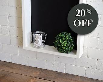 Kitchen Chalkboard Organizer - Housewarming Gift - Mail Organizer Key Holder - Chalkboard Recipe