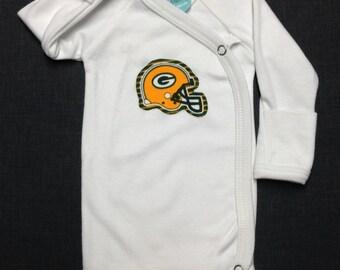 MANY Teams Available - Preemie Bodysuit - Green Bay Packers Bodysuit, Packers Baby, NFL Baby, Baby Packers Bodysuit, Preemie Baby