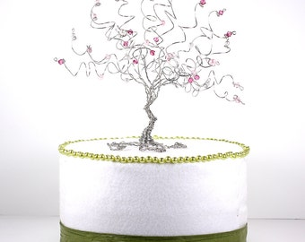 Cherry Blossom Wedding Cake Topper Wire Tree Sculpture