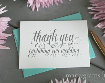 Wedding Card to Your Photographer - Thank You for Capturing Our Wedding - Videographer - Vendor Thanks, Tip Card - CS12