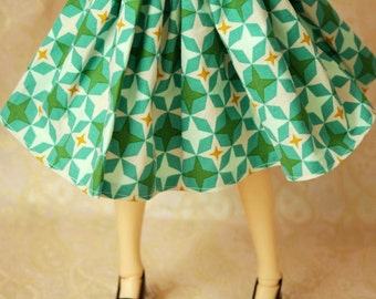 Delf Feeple 60 Teal 50s Star Skirt For SD BJD