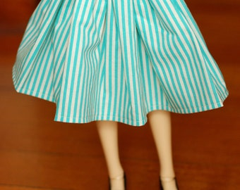 Delf Feeple 60 Turquoise Striped Skirt For SD BJD