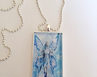 Blue Fairy Necklace - Fairy Pendant - Fantasy Necklace - Feature Necklace - Fairy Jewelry - Fantasy Jewellery - Gift For Her