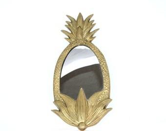 Vintage Brass Pineapple Mirror Pineapple Decor Pineapple Vanity Mirror Brass Mirror Wall Mirror Wall Decor