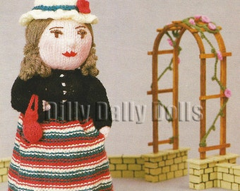 Anne Carol Creations Woolly Wotnots No 28 VICTORIA Toy Doll Ornament Knitting pattern