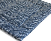 Dog Bed Navy Herringbone Washable Portable Dog Crate Mat Pad Modern Dog Travel Bed