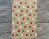 Polka Dot Kraft Christmas Wrapping Paper, 2 Feet x 10 Feet