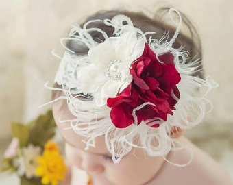 Baby Girls Flower Headband Newborn Flower headband Infant Flower Headband