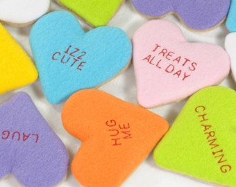 Conversation Heart Cookies Organic Catnip Cat Toy