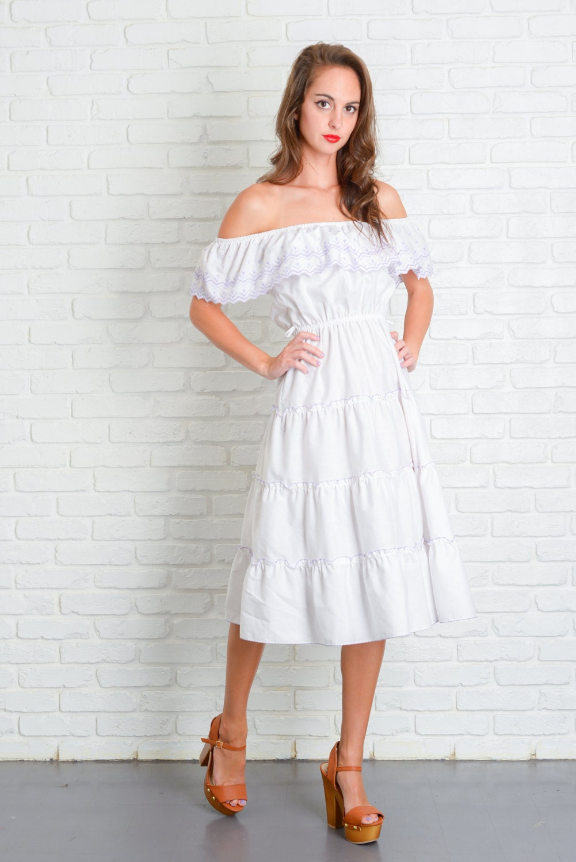 SALE 10% off White tattered boho gypsy hippie by LilyWhitepad |Tahari White Dress Hippie Bohemian