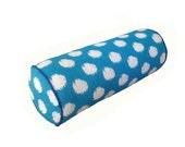 Sky Blue Ikat Spot Bolster cushion