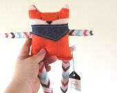 Scented Rice-Filled Fox Plush /Felt SmallToy / Fox Stuffed Animal - Toutou sent bon, Renard peluche, Cadeau bébé Renard Orange