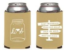 Mason Jar Wedding Favor, Mason Jar Bridal Gift, Vintage Wedding Favors, Mason Jar Wedding Gift, Just Married Wedding Favor, Monogrammed Gift