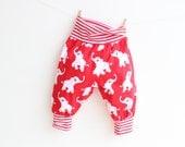 JUNGLE Toddler Baby Boy Girl Harem Pants pattern Pdf sewing, Knit Jersey Woven, Baby Toddler pattern, newborn 3 6-9  12 18m 1 2 3 4 5 years