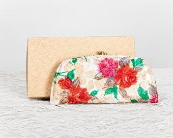 Vintage 1950s Deadstock Floral Lame Wallet