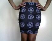 Sigil of Baphomet Satanic Bodycon Skirt