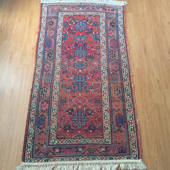 Persian Kurdish Rug Handknotted Wool Tribal Weave By