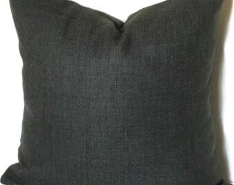 Decorative Pillow, Accent Pillow, P Kaufmann Basket Weave, 18x18 20x20 22x22 or 14x20 Lumbar Pillow, Slate Grey