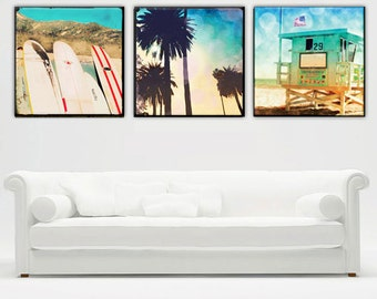 Surfer Art, Large Canvas Wall Art, California Beach Decor, Retro Beach Decor, Surfer Art, Venice Beach, Surfboards, California Wall Art