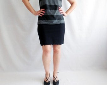 Black skirt, Mini skirt, Jersey skirt, Petite, Pencil skirt, Short skirt, cotton skirt, Aline skirt, knee skirt
