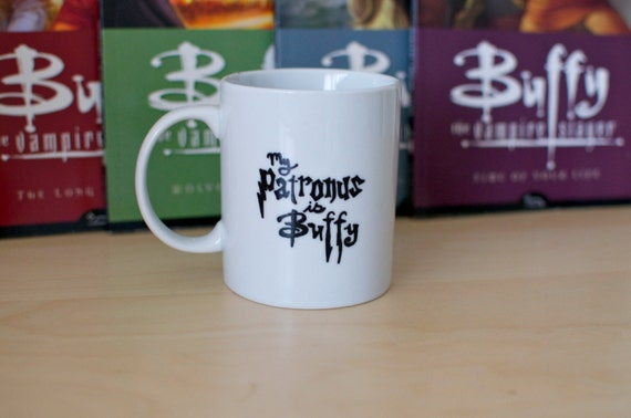 My Patronus is Buffy Hand Painted Crossover Mug