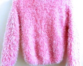 90s Fuzzy Pink Sweater size XS/S