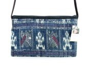 Woven Cross Body Bag With Leather Strap Fair Trade Thailand (BG308L.2)