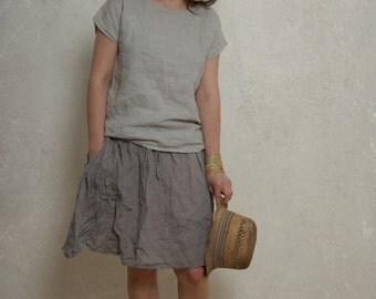 a size S READY TO SHIP / Linen Tee Shirt