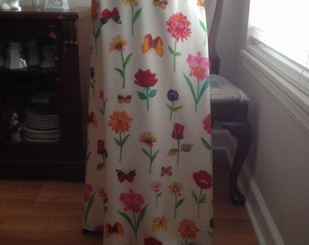 Vintage Silk TAO Collection New York Long Maxi Skirt Lined with White Acetate Size 10