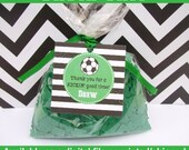 Soccer Favor Tags - Soccer Thank You Tag - Sports Tags - Sports Favor Tag - Soccer Gift Tag - Digital and Printed Available