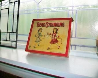Antique Game Bead Stringing Vintage Crafts