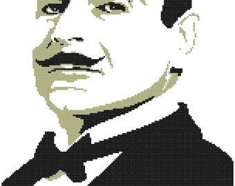 Hercule Poirot - Agatha Christie - Cross Stitch Pattern
