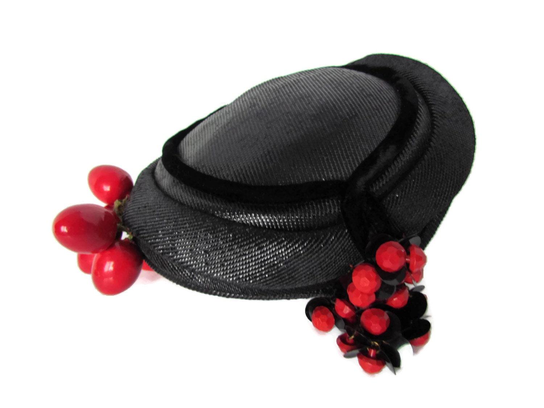 vintage hat fascinator hat womens hats unique by