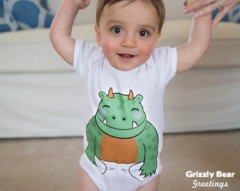 Funny Baby Boy Clothes - Monster Onesie - Funny Onesies - Baby Shower Gift