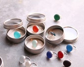 Rainbow Ring - Sterling Silver & Glass Gem