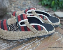 Vegan Womens Clogs  in Tribal Naga Slip On Slide Shoes - Sydney