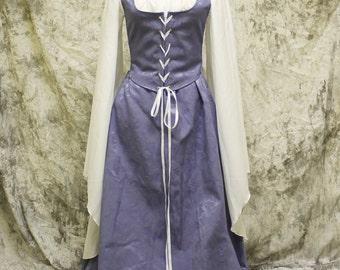 Lavender Renaissance Costume-Halloween Costume-Medieval Dress-LARP-Ren Fair-Steampunk-SCA-Adult Costume-Medieval Clothing-Fantasy-Item #146