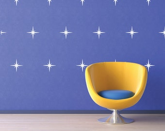 Star Decals, REUSABLE Fabric Decal, Pattern Decals Nontoxic PVC free Ecofriendly Decal, SD11