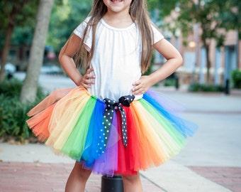 "Rainbow tutu ""Remi"" girls tutu children's photo prop birthday tutu skirt size 5,6,7,8,10,12 dress up skirt circus tutu carnival tutu costume"