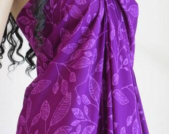 Purple Sarong, Pareo, Wrap, Cover up, Beach Sarong, D