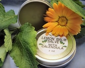 Lemon Balm Healing Salve with Calendula (2 Sizes) Promotes the Healing of Cold Sores And Herpes