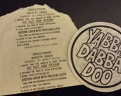 Vintage Yabba Dabba Doo Glitter Iron On Transfer The Flintstones Iron On Decal Fred Flintstone