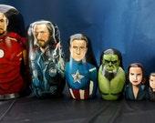 Set of Eight Marvel's The Avengers Nesting Dolls